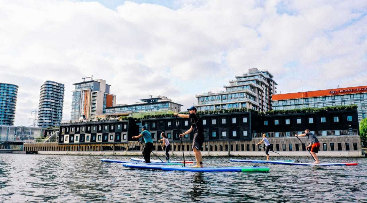 Protect Blue London Guests And Starboard Ocean Ambassadors On SUPs During Event